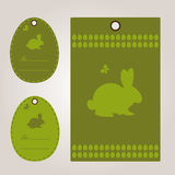 Happy easter card with rabbit royalty free illustration