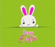 Happy Easter card with rabbit Stock Photography