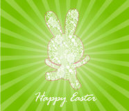 Happy Easter card with  rabbits Royalty Free Stock Photos