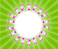 Happy Easter card with rabbits Stock Photo