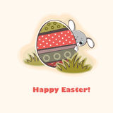 Happy easter card Stock Photos