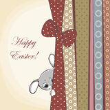 Happy easter card. With rabbits Royalty Free Stock Photos