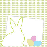 Happy Easter card with room for text stock illustration