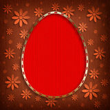 Happy Easter Card - shape of egg and flowers Royalty Free Stock Photography