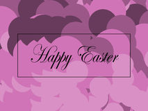 Happy Easter. Card in soft pink and lilac shades Stock Photos