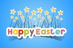 Happy Easter Card With Spring Flowers Royalty Free Stock Image