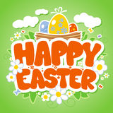 Happy Easter card template. Stock Photos