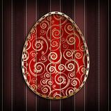 Happy Easter card template - abstract design Stock Images