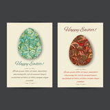 Happy Easter Card Templates stock illustration