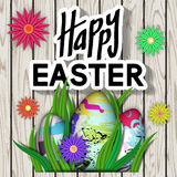 Happy Easter. Card with Typography Text. Stock Photography