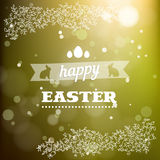 Happy Easter card in vector. Stock Photo