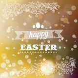 Happy Easter card in vector. Royalty Free Stock Photography