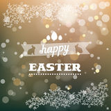 Happy Easter card in vector. Stock Photography