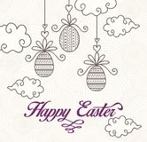 Happy easter card. Vector art background,illustration or print Royalty Free Stock Photo