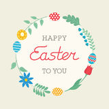 Happy Easter card - Vector Illustration Royalty Free Stock Photography