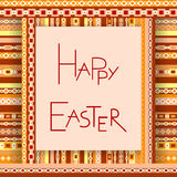 Happy Easter card. Vector illustration Stock Photography