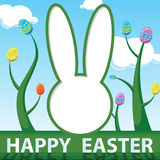 Happy Easter card Vector illustration Royalty Free Stock Image