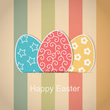 Happy Easter Card vintage style Stock Photography