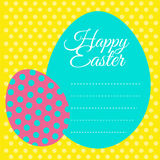 Happy Easter card with yellow background Royalty Free Stock Image