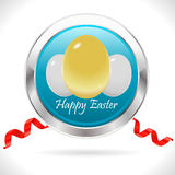 Happy easter cards with easter eggs, golden egg with ribbon - vector eps10 Stock Photo