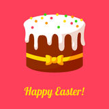 Happy Easter cards illustration with cake with Stock Images