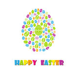 Happy easter cards illustration with easter egg Stock Photo
