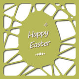 Happy easter cards illustration with easter egg. Royalty Free Stock Photography