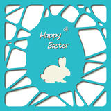 Happy easter cards illustration with easter egg. Royalty Free Stock Photos