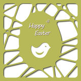 Happy easter cards illustration with easter egg. Stock Images