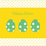 Happy easter cards illustration with easter eggs Royalty Free Stock Images