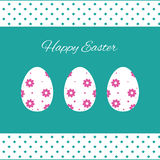 Happy easter cards illustration with easter eggs Royalty Free Stock Photo