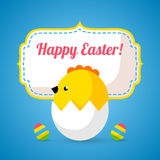 Happy Easter cards illustration with eggs, chick Royalty Free Stock Images