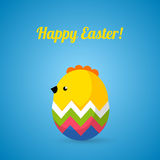 Happy Easter cards illustration with eggs and Stock Photos