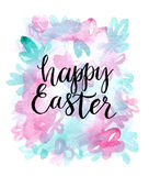 Happy easter cards illustration with font. Vector illustration vector illustration