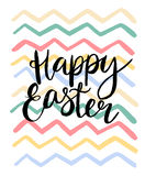 Happy easter cards illustration with font. VEctor illustration Stock Image