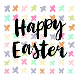 Happy easter cards illustration with font. Royalty Free Stock Photography