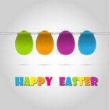 Happy easter cards illustration retro vintage with Stock Images
