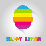 Happy easter cards illustration retro vintage with Royalty Free Stock Photography