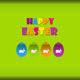 Happy easter cards illustration Royalty Free Stock Photos