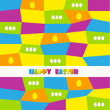 Happy easter cards illustration vintage with easte Royalty Free Stock Photo