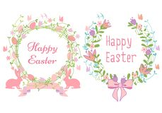 Happy Easter cards, vector Royalty Free Stock Image