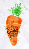 Happy easter carrot poster Royalty Free Stock Image