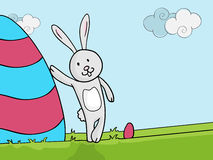 Happy Easter celebration with bunny and egg. Stock Image