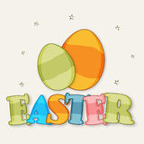 Happy Easter celebration with colorful eggs. Royalty Free Stock Images