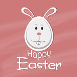 Happy Easter celebration with cute bunny. Happy Easter celebration greeting card with cute face of bunny Stock Photography
