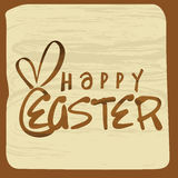 Happy Easter celebration greeting card design. Happy Easter celebration vintage greeting card design Royalty Free Stock Photos