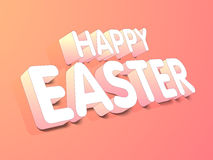 Happy Easter celebration poster or banner. Royalty Free Stock Photography
