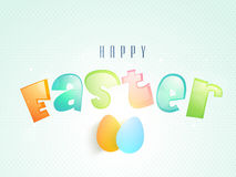 Happy Easter celebration poster or banner. Royalty Free Stock Photos