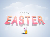 Happy Easter celebration poster or banner. Stock Photos