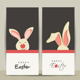 Happy Easter celebration website banner set. Stock Images